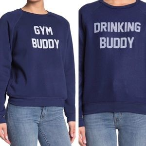 NWT Project Social T Buddy Sweatshirt Reversible